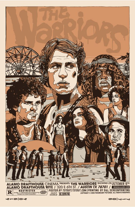 The Warriors Movie Site - Poster By Eric Tan  amp  Tyler StoutThe Warriors Movie Poster