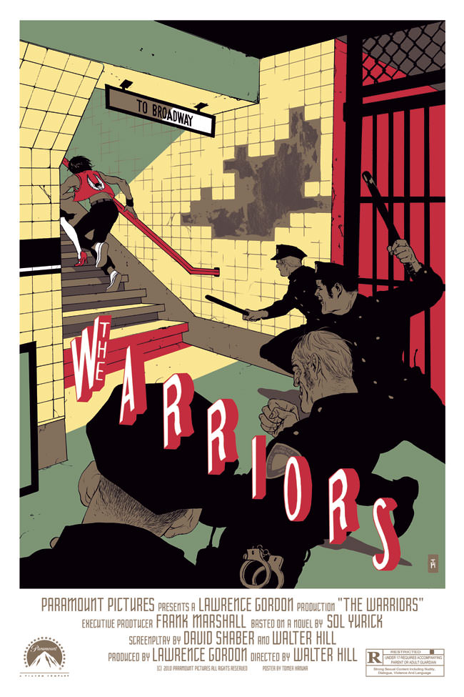 The Warriors Movie Site - Poster By Tomer Hanuka